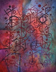 """A Game Of Boccia"" 2005 acrylic on board 70 x 50 cm"