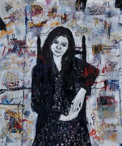 """Catherine"" 2004 acrylic on canvas 120 x 100 cm"