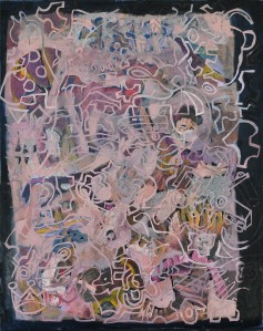 """Play Ground"" 2010 oil on plastic"
