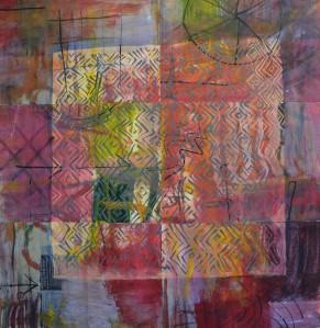 """Emotions"" 2003 ink & pastel on paper 80 x 80 cm"