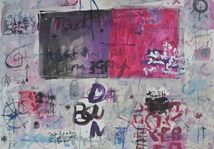 """""""Post Card 3"""" 2004 ink and pastel on paper 60 x 80 cm"""