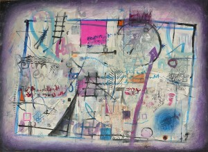 """""""Post Card 4"""" 2004 ink and pastel on paper 60 x 80 cm"""