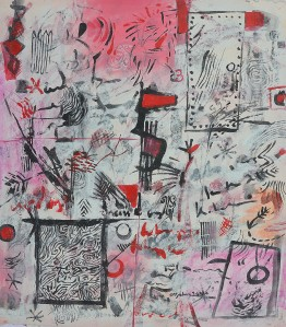 """""""Moorooka Whispers No.1"""" 2004 ink and pastel on paper 40 x 30 cm"""