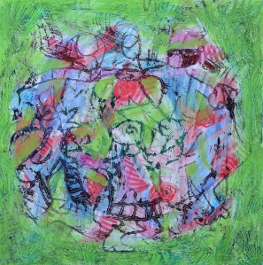 "'Ring a Ring of Roses"" 2007 Mixed media on paper"