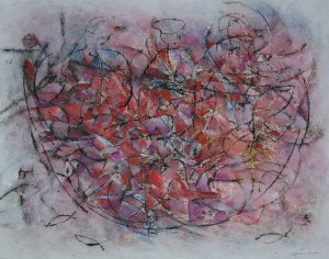 """Rub a Dub Dub"" 2009 Mixed media on paper"