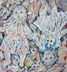 """Dolls"" 2009 ink and gouache on paper"