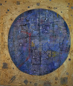 """""""Etherial Hangover"""" 2003 acrylic on canvas 90 x 70 cm"""