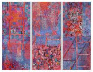 """""""Five Minute Makeover"""" 2002 acrylic on canvas 130 x 160 cm"""