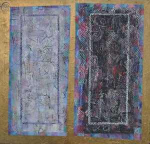 """Mirror Mirror"" 2002 acrylic on canvas  160 x 160 cm"