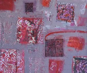"""""""Moorooka Whispers"""" 2004 acrylic on board 70 x 90 cm"""