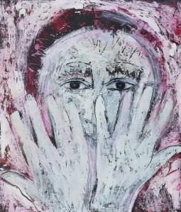"""""""Peek a Boo"""" 2006 oil on paper"""