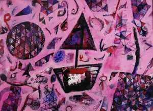 """""""Sea of Dreams"""" 2006 ink & crayon on paper 45 x 60 cm"""