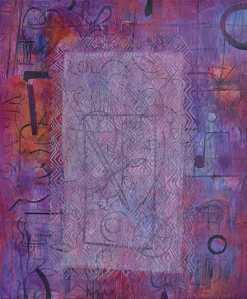 """""""Serenade"""" 2002 Acrylic on canvas"""