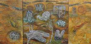"""Summer Gold Resting Place"" 1998 acrylic on canvas"