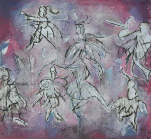 "The Ballet Class No.1"" 2009 Mixed media on paper"