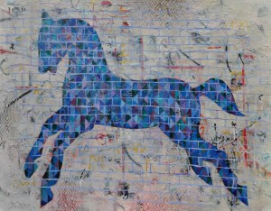 """Horse of a Different Colour"" 2008 acrylic on canvas"