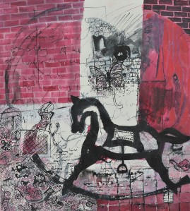 """The Rocking Horse"" 2005    ink on paper 50x 40 cm"