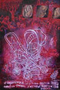 """The Pram"" 2005 oil on canvas"