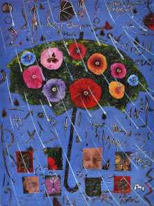 """The Umbrella"" 2005 acrylic on canvas 120 x 90 cm"
