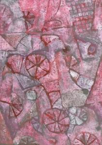 """Wheelchair Basketball"" 2005 monotype 45 x 30 cm"