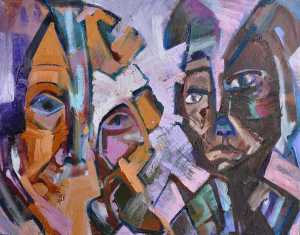 """Attitude"" 1992 oil on canvas 45 x 60 cm"