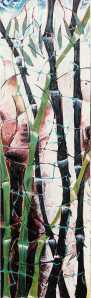 """Bamboo"" 1991 oil on canvas 180 x 80 cm"