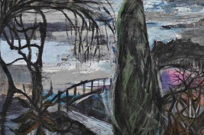 """Dream Street Places"" 1993 acrylic on canvas 60 x 80 cm"