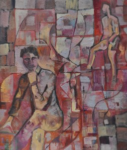 "'Soliloquy"" 1992 oil on canvas 60 x 50 cm"