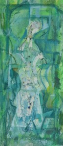 """Water Spirit"" 1992 mixed media on paper 40 x 20 cm"