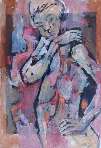 """Soliloquy"" 1992 oil on paper 30 x 20 cm"