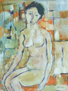 "'Soliloquy"" 1992 pastel and oil on paper 40 x 30 cm"