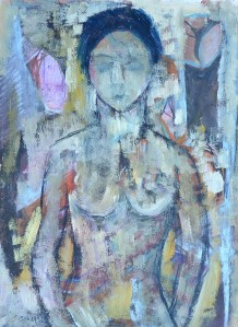 """Girl"" 1992 pastel and oil on paper 40 x 30 cm"