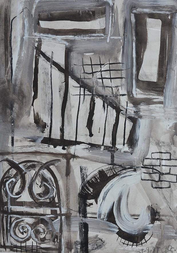"""Street Essence"" 1994 ink & acrylic on paper 30 x 20 cm"