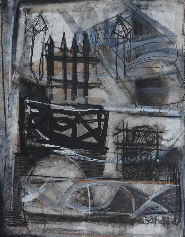 """Street Essence"" 1994 mixed media on paper 30 x 20 cm"