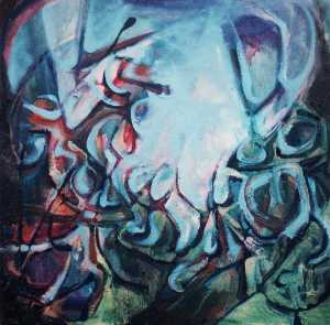 """Glade"" 1992 oil on canvas 40 x 40 cm"