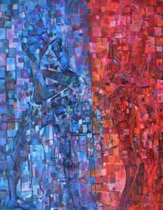 """Male and Female"" 1992 oil on canvas 130 x 100 cm"