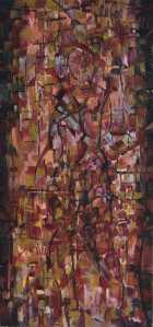 """Inhibitions"" 1992 oil on canvas 120 x 60 cm"