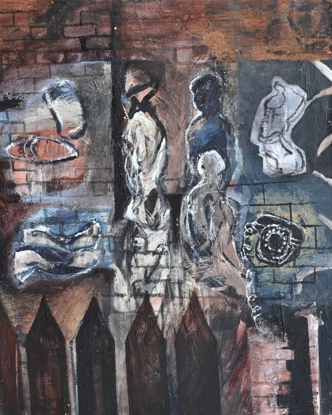"""Safety House Zone"" 1993 acrylic on canvas 80 x 60 cm"