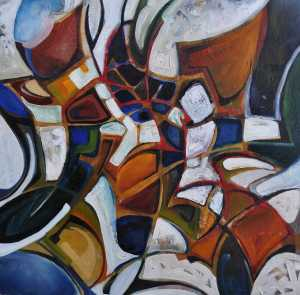 """Spring Formation"" 1991 oil on canvas 50 x 50 cm"