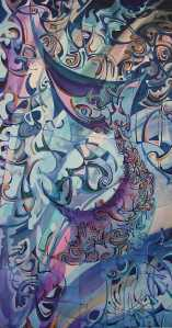 """Temple of The Winds"" 1991 acrylic on canvas 180 x 120 cm"