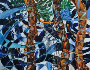 """The Wild Wind"" 1991 oil on canvas 160 x 200 cm"