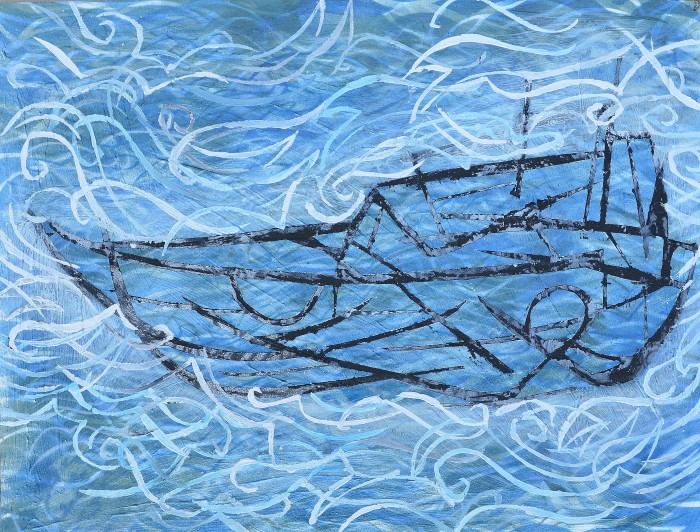 """Boat"" Acrylic on board 60 x 80 cm 2014"
