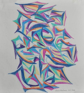 """Design"" 1988 pencil on paper 30 x 20 cm"