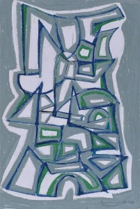 """Monument"" 1988 oil pastel on paper 50 x 40 cm"