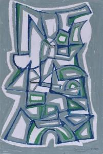 """Monument"" 1988 oil pastel on paper 50 x 40 cm"