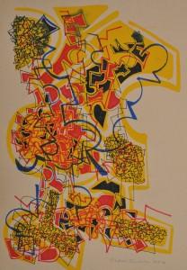 """Fire Dance 1"" 1988 ink on paper 60 x 50 cm"