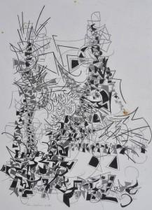 """Coronation"" 1988 pencil on paper 50 x 40 cm"