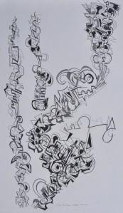 """Scherzo"" 1988 pencil on paper 50 x 40 cm"