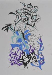 """Dream"" 1988 pencil on paper 50 x 40 cm"