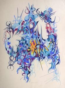 """Crystal Light"" 1989 pastel on paper 80 x 65 cm"